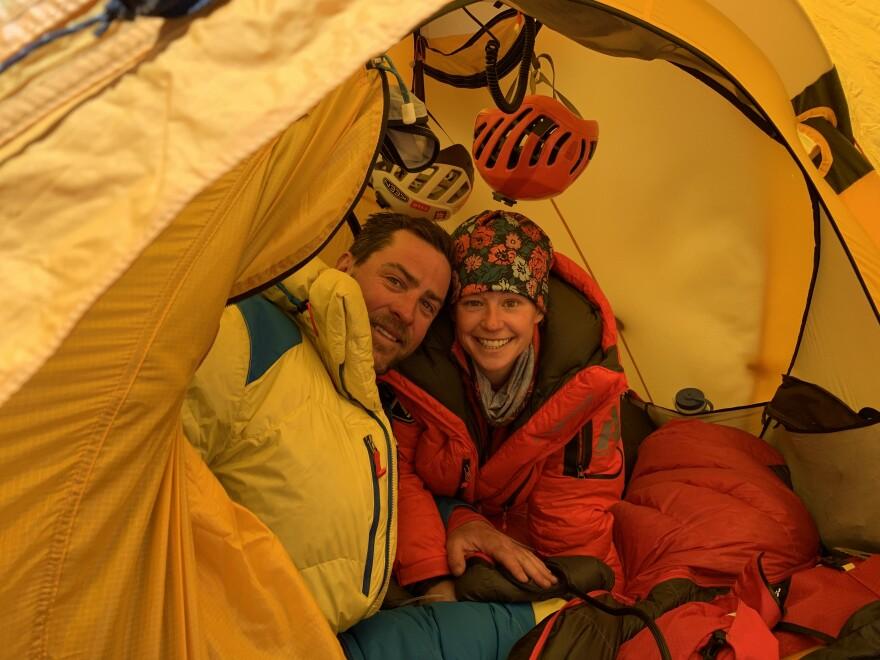 Photo of Caroline Gleich and Rob Lea.