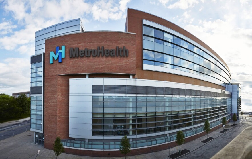 A photo of MetroHealth main campus.