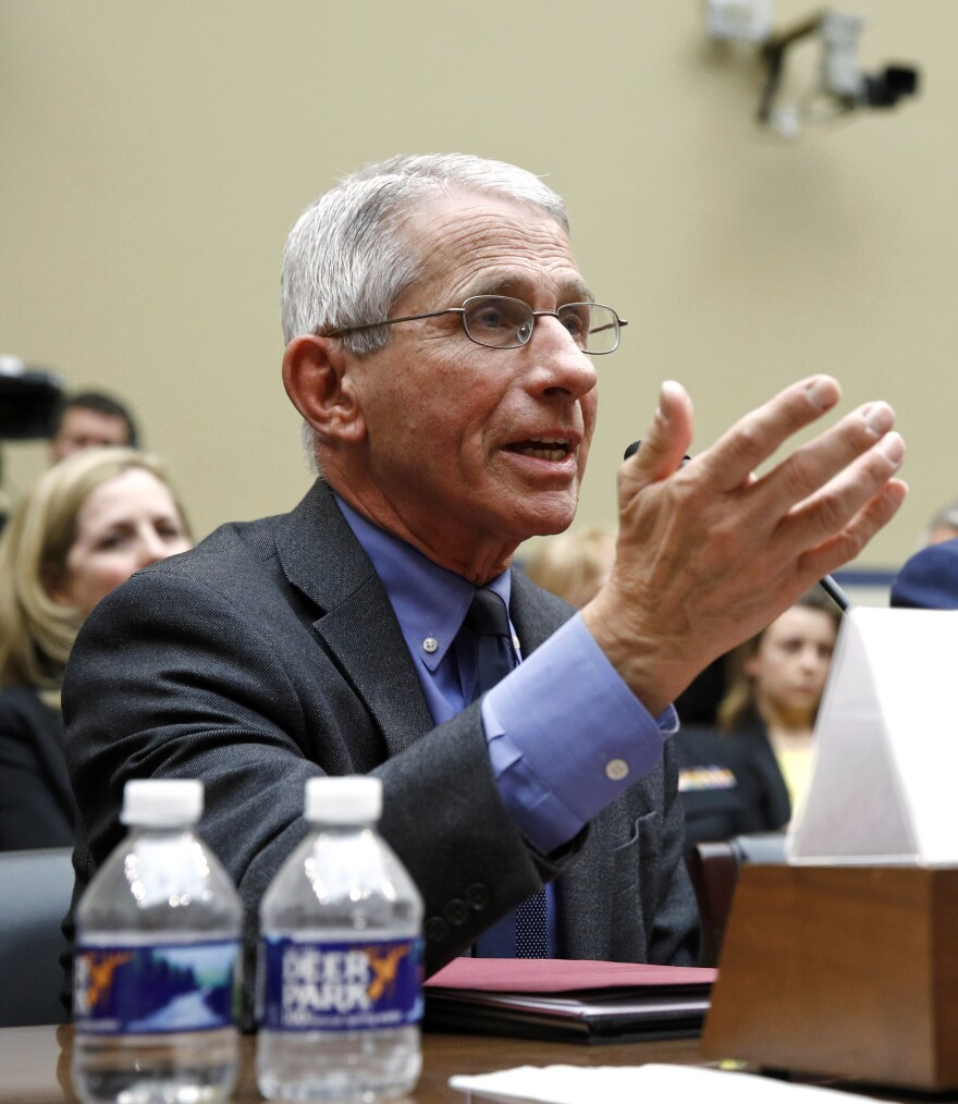 Dr. Anthony Fauci, director of the National Institute of Allergy and Infectious Diseases, said elderly people and people with underlying health problems should take special precautions and not  travel on cruise ships.
