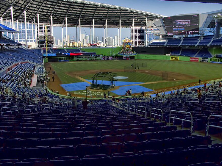 open-air baseball stadium