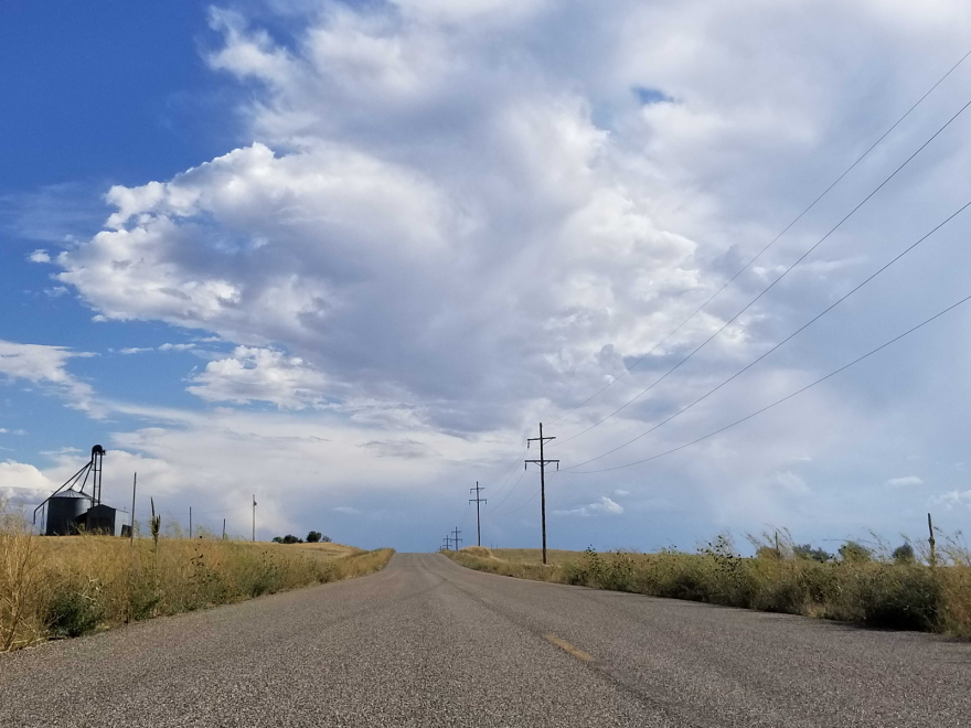 A road near rural Chugwater, Wyoming.
