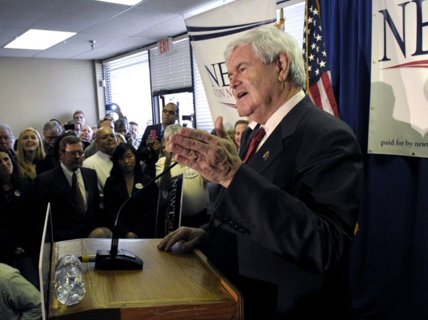 Newt Gingrich at the opening of his Florida campaign headquarters in Orlando, Friday, Jan. 13, 2012.