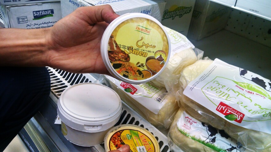 The mass-produced smen sold in Moroccan supermarkets is thinner and less rich than the traditional stuff.