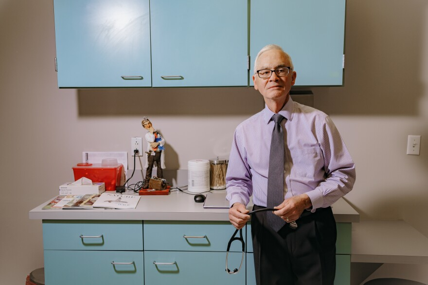 Dr. John Dunlap runs a direct primary care practice in Overland Park, Kan., offering patients direct access to him by phone and longer appointment times. The model is similar to concierge medicine.