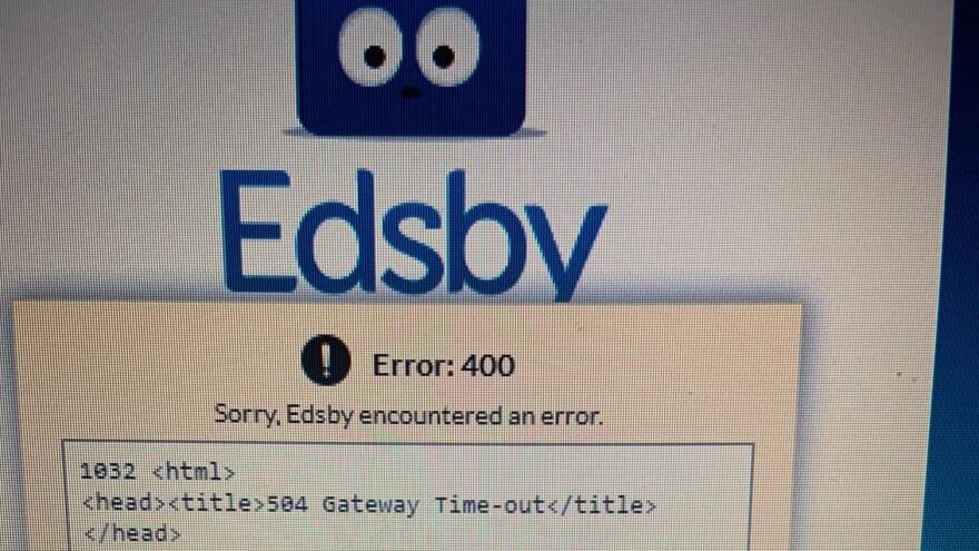 Edsby error message