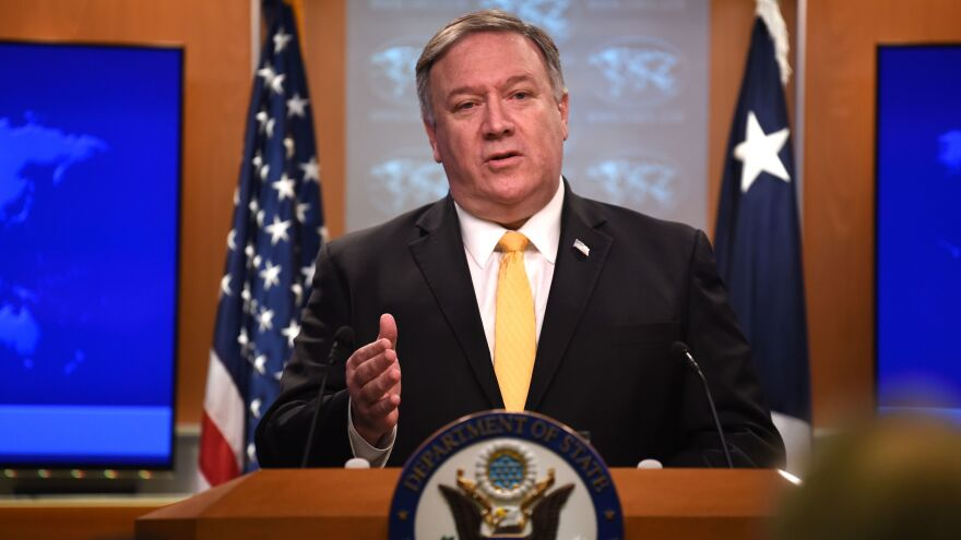 Secretary of State Mike Pompeo tells reporters Friday that the United States will withdraw from the Intermediate-Range Nuclear Forces Treaty with Russia.