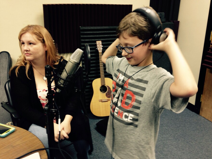 Alex Reymer and his mom Claudia at the cypher-recording session. Sliiiiiick's mom, Claudia Raymer explains that he did grow up listening to hip hop music. Sliiiiick is on the autism spectrum, and she says when he took to writing and producing