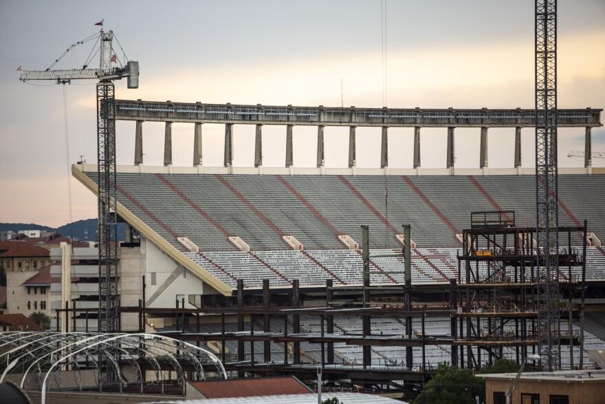 UT Austin plans to allow 50% seating capacity at football games at Darrell K Royal-Texas Memorial Stadium this fall during the coronavirus pandemic.