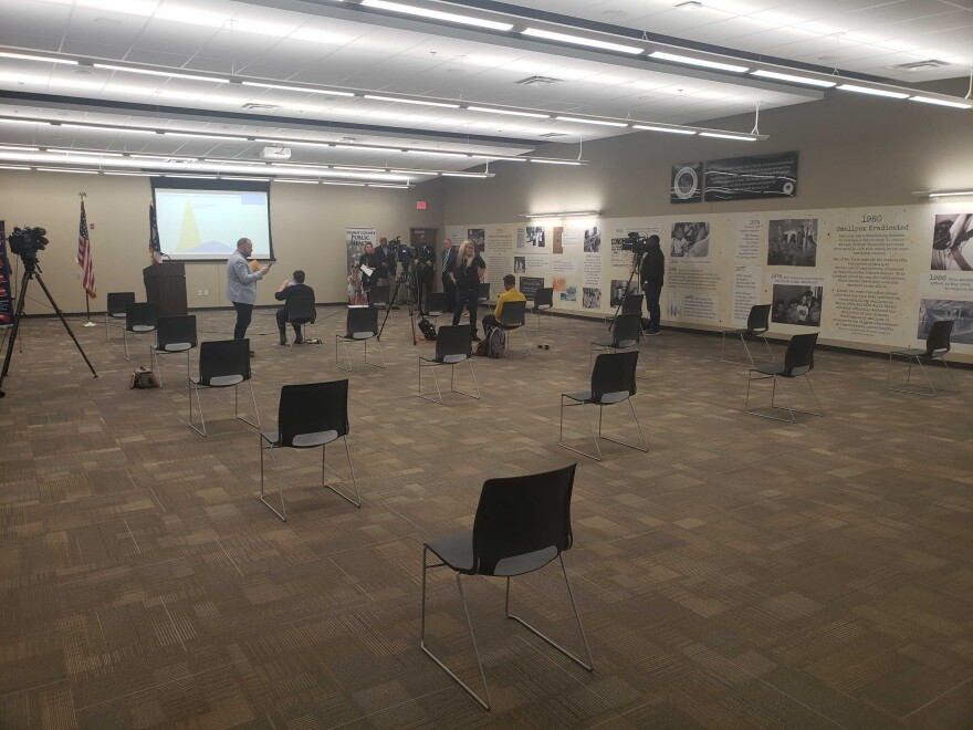 a photo of briefing room at Summit co public health department