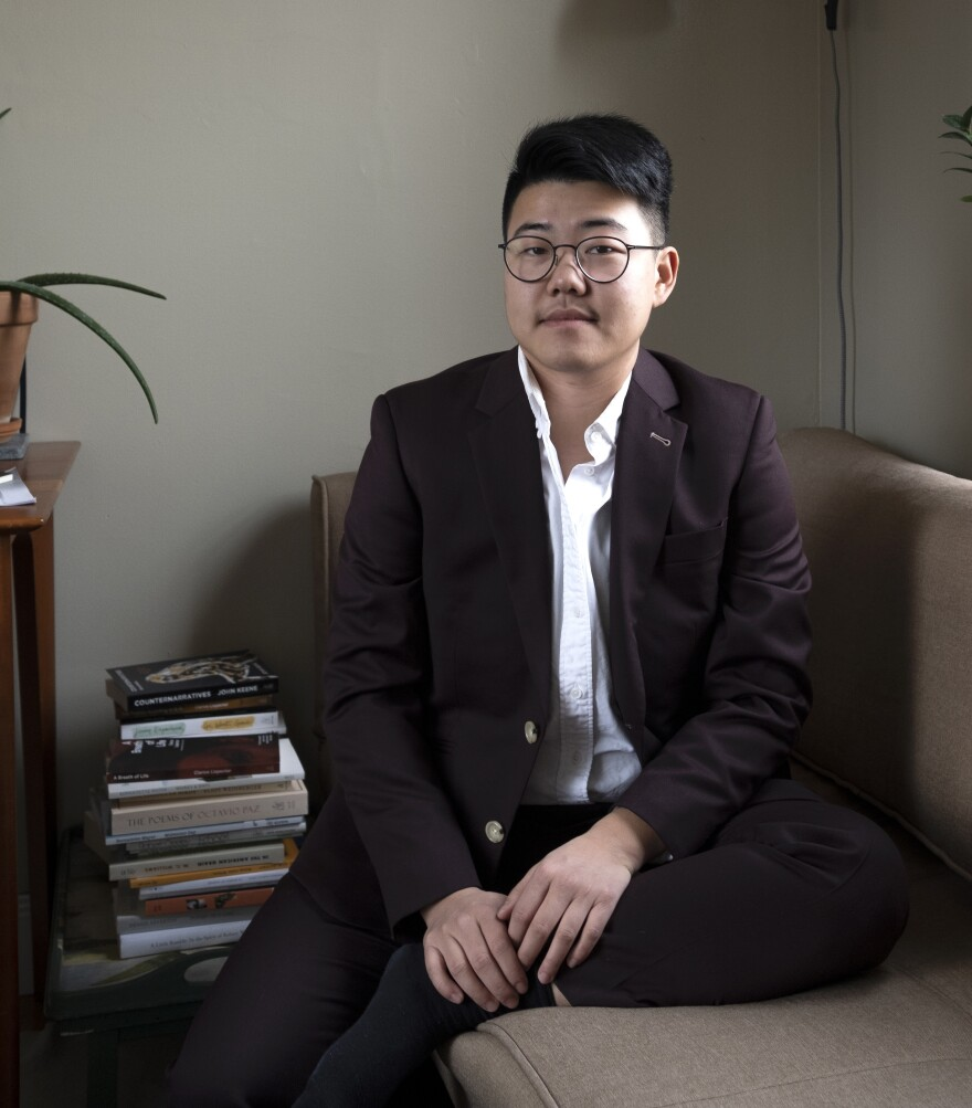 Poet Yanyi; his debut, <em>The Year of Blue Water</em>, won the Yale Younger Poets prize.