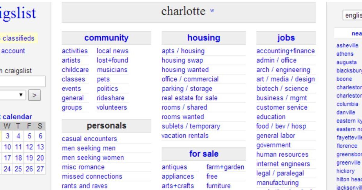 Craigslist charlotte www com winston