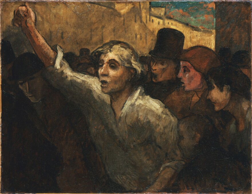 "Phillips acquired Honoré Daumier's <em><a href=""https://www.phillipscollection.org/collection/uprising-lemeute"">The Uprising</a> (</em>1848 or later, oil on canvas) in 1925. He repeatedly referred to it as the ""greatest picture in the Collection."""