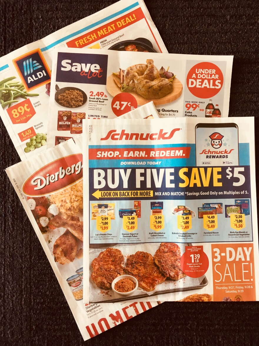 Grocery store newspaper ads show variety of stores and prices in St. Louis