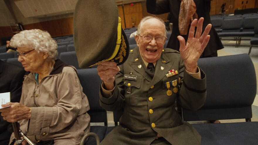 This month, a symphony composed by World War II veteran Harold Van Heuvelen had its premiere.