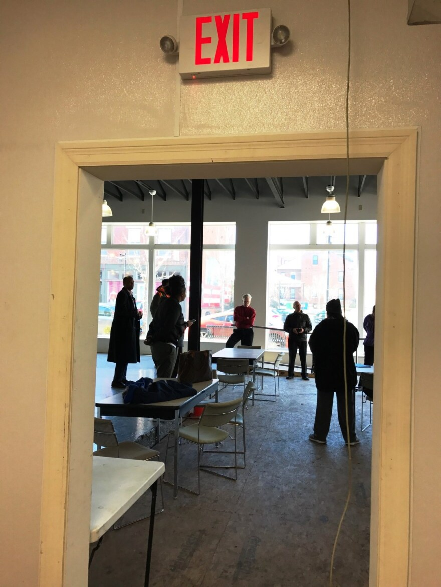 File photo. People interested in the Old North neighborhood restaurant competition visited the space on Jan. 4, 2017 and learned more about the contest.