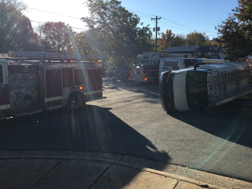 Charlotte Fire Department responded to a multi-vehicle accident involving a CATS bus Wednesday morning.