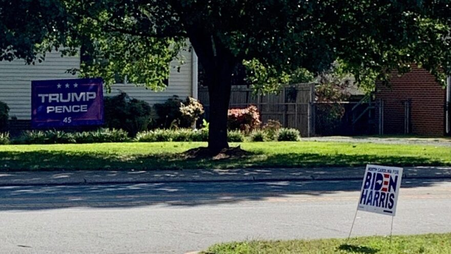 A street in Burlington, North Carolina, a middle suburb. Middle suburbs delivered a national victory to President Trump in 2016. But will they do so again?