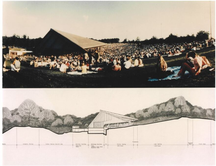 A photo from the lawn at Blossom pictured above on of Peter van Djik's original drawings.
