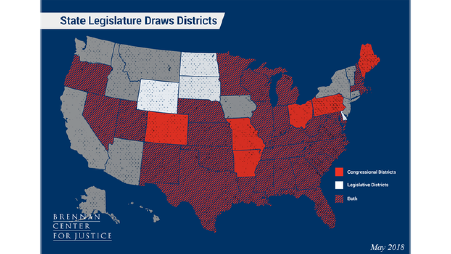 In most states, the state legislature is in charge of redistricting, and new maps are adopted by a majority vote in each chamber and are subject to veto by the governor.