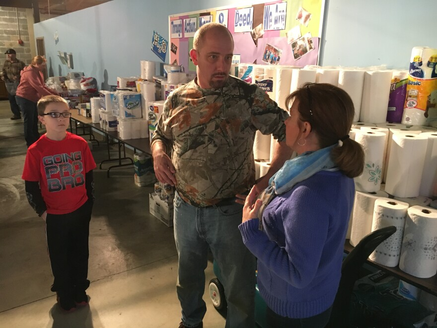 Chris Greenhagen of the Central Baptist Church helped organize a massive relief effort for Eureka.