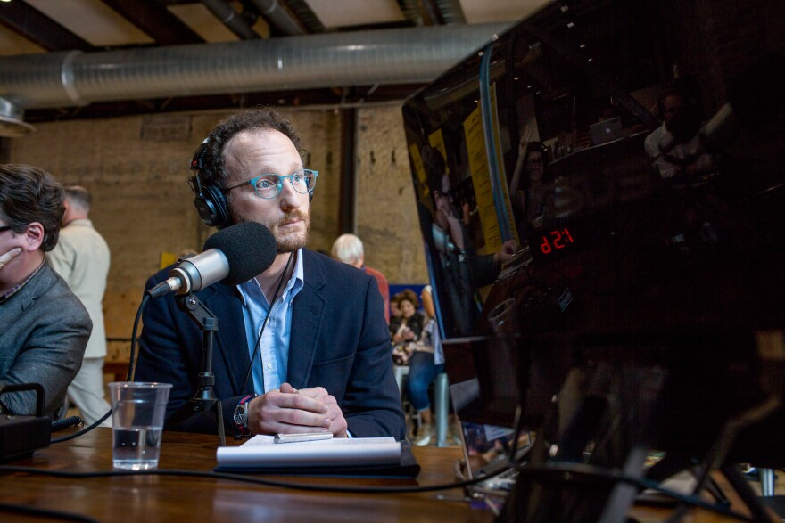 UT Computer Science Professor Hovav Shacham discussed voter security with Texas Standard Host David Brown at the 2018 Texas Tribune Festival.
