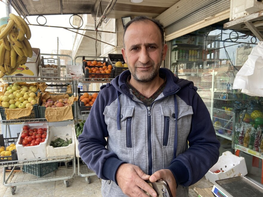 Dirik shop owner Mohammed Abdullah Ismael says his biggest fear is Turkey.