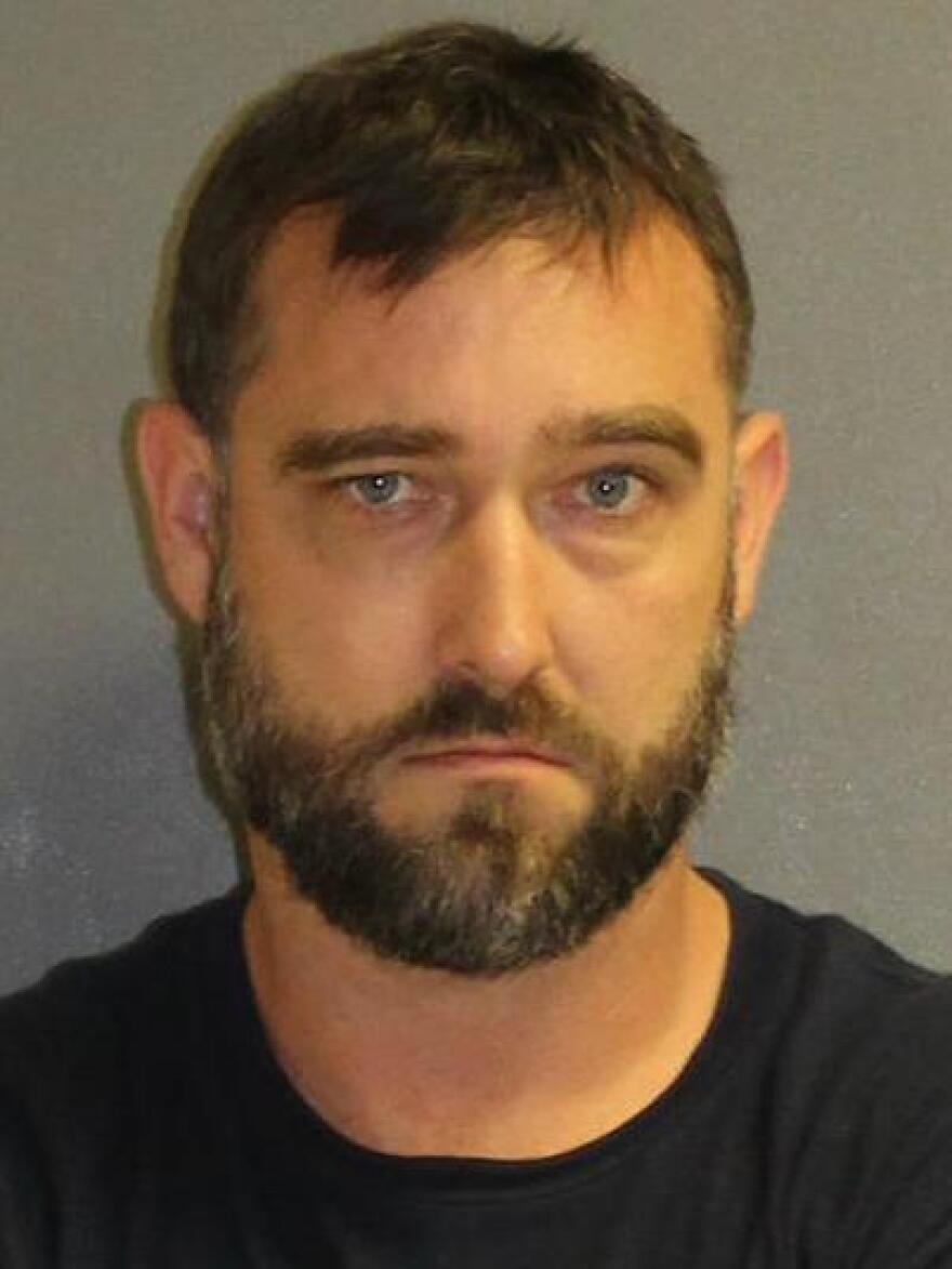 "Jared Coburn , 37, (pictured) ""tried to explain to us that he was making his own version of a firework,"" Lake Helen Police Chief Mike Walker said."