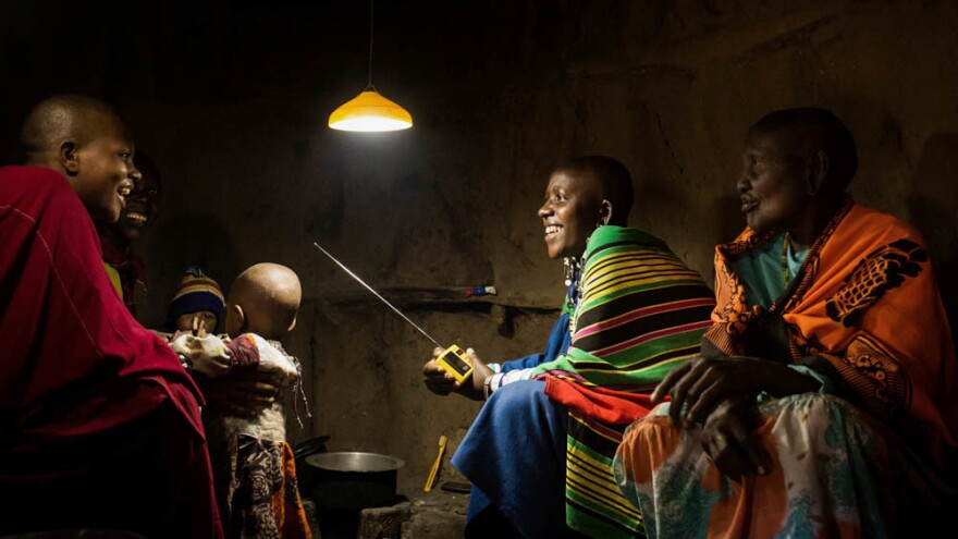 Solar-powered lights make a dramatic difference in the lives of Tanzanians who had no electricity.