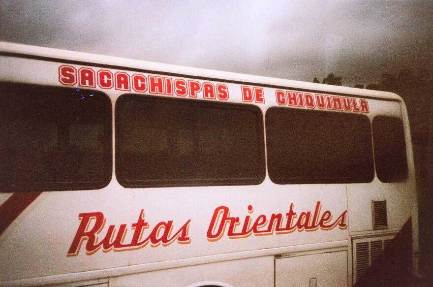 A bus in Guatemala, pictured near the Honduran border