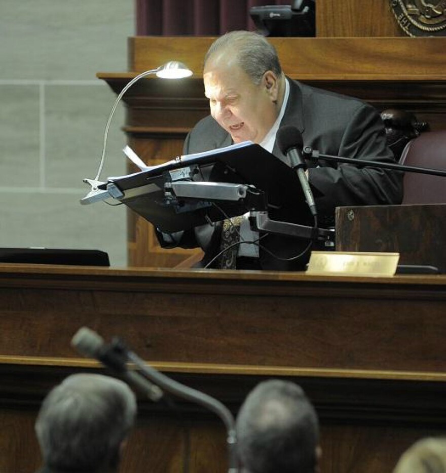 Judge Teitelman was legally blind, but could see with magnified type. As chief judge in 2013, he delivered the state of the judiciary address to the General Assembly.
