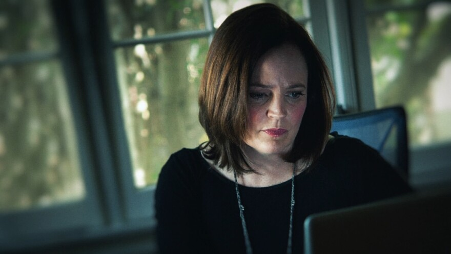 <em></em>Michelle McNamara, as seen in the HBO adaptation of her book <em>I'll Be Gone in the Dark.</em>