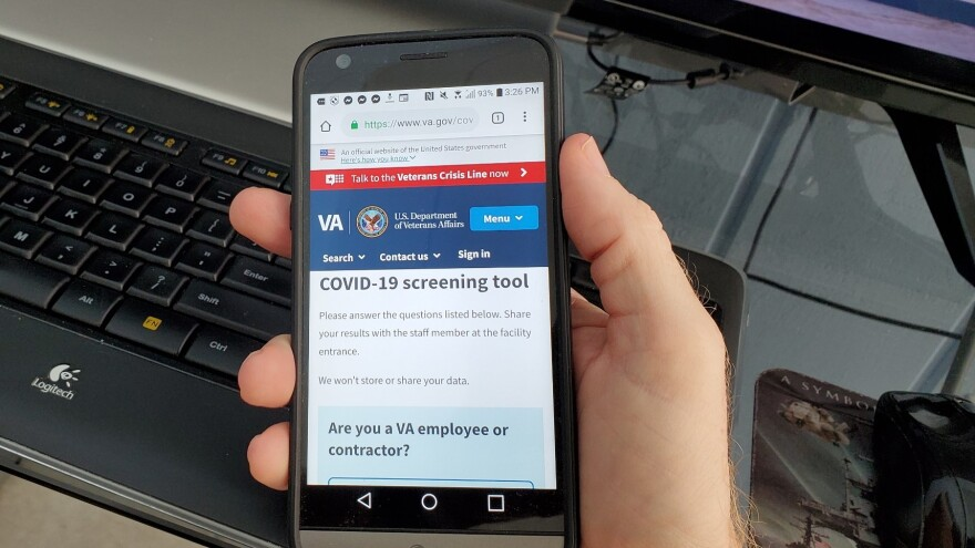 Photo of the VA COVID-19 screening tool.