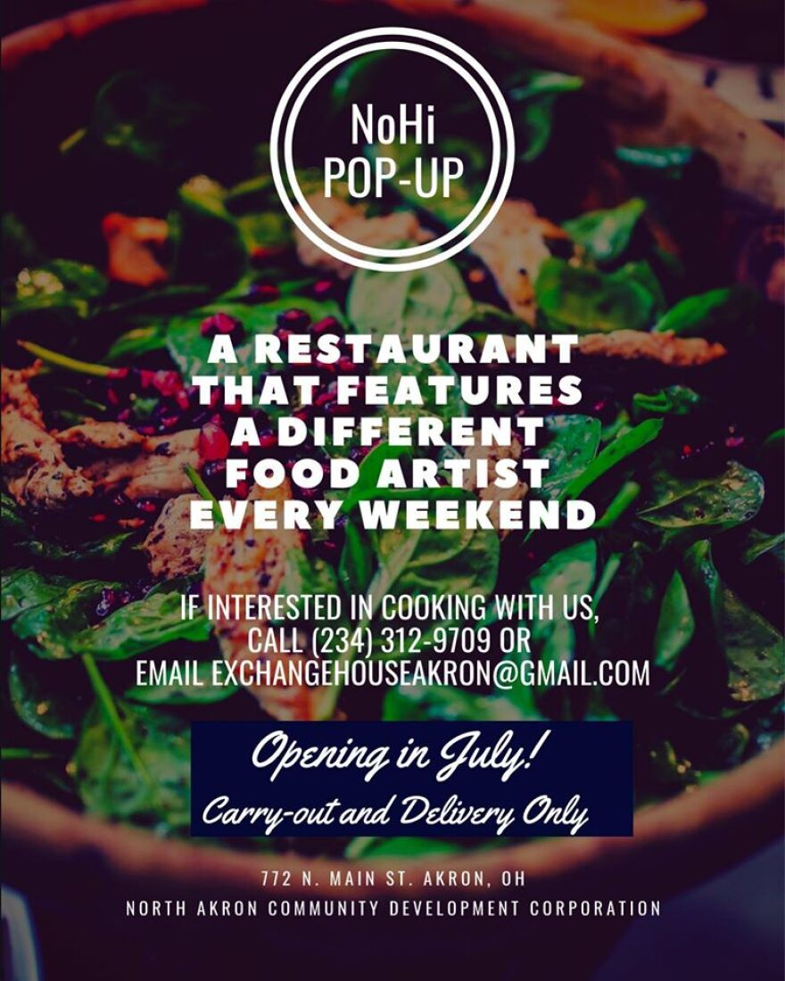 an image of the ad for NoHi pop up restaurant