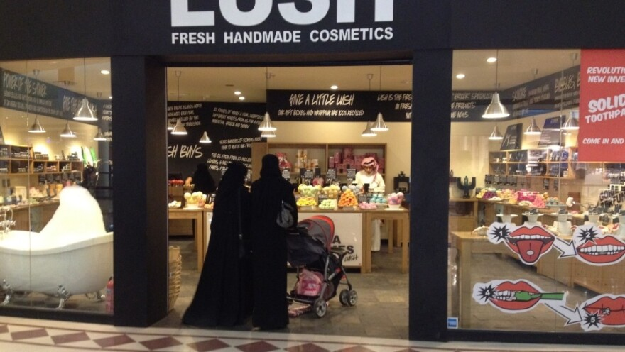 In the Saudi capital Riyadh, two women stroll into a cosmetics shop in a luxury mall. The desire for greater personal freedoms has prompted Saudi rulers to relax some restrictions.