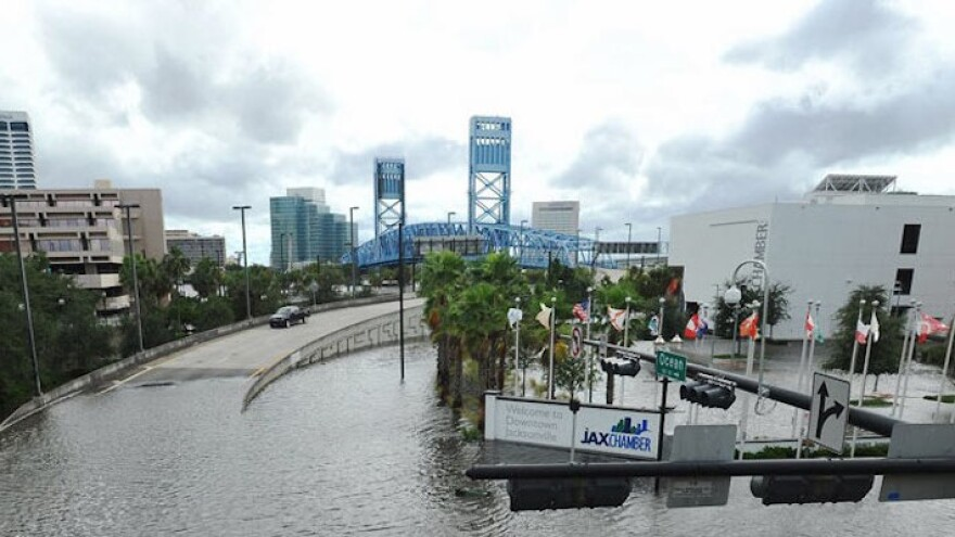 Downtown Jacksonville experienced flooding during Hurricane Irma in 2017.