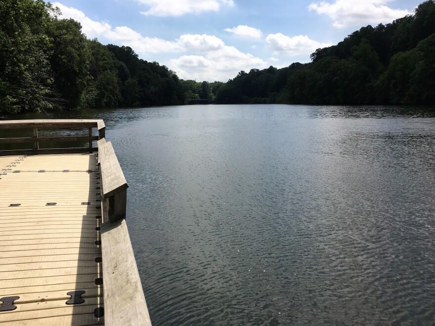 photo of lake behind Gorge Dam