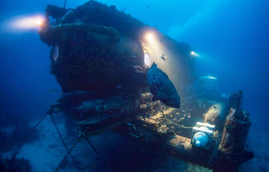 There have been about 50 undersea research bases like Aquarius Reef around the world. Today, it's the last one that remains devoted to scientific research.