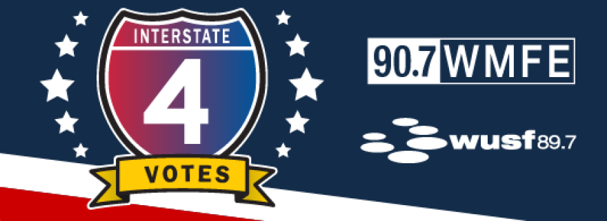 The image displays a header for the I-4 Votes project.