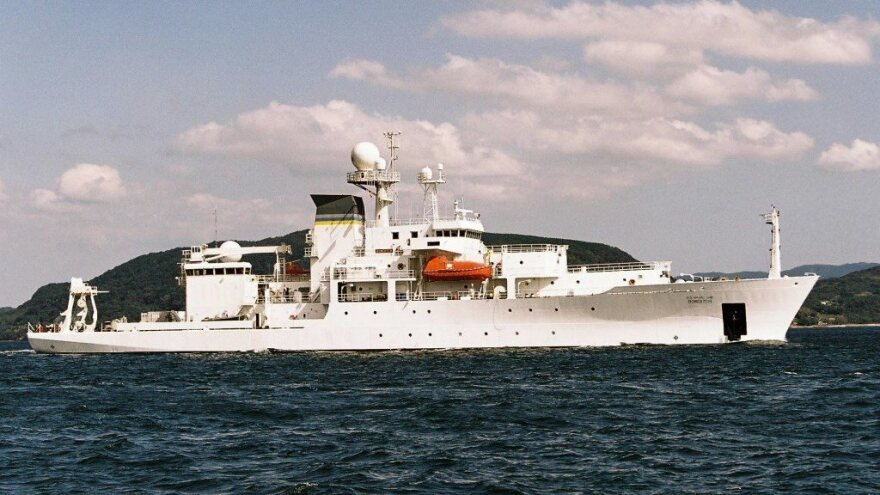 An unmanned underwater vehicle, or UUV, was deployed by the oceanographic and survey ship USNS Bowditch (seen here in a U.S. Navy file photo) — but it was retrieved by a Chinese navy ship.