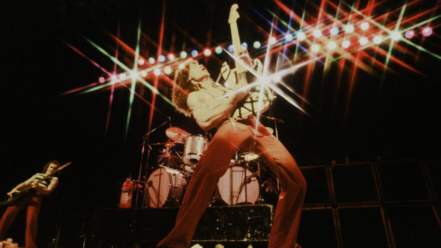 Eddie Van Halen on stage in 1978.