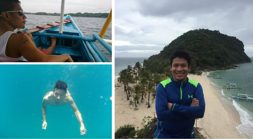 Froilan Grate at his home in the province of Iloilo. He came to Manila at 18 for college — and found his life's work: fighting the tide of plastic.