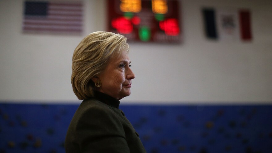 Hillary Clinton at a campaign event Thursday in Newton, Iowa.