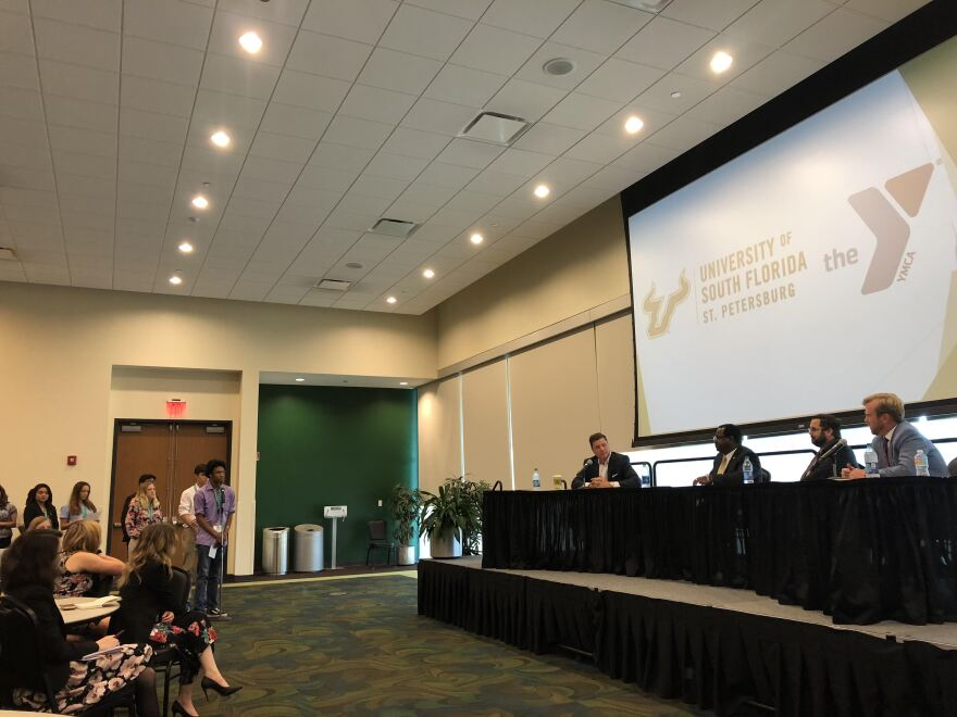High school students from across Florida gathered at USF St Petersburg to learn about careers in government from Florida legislators.