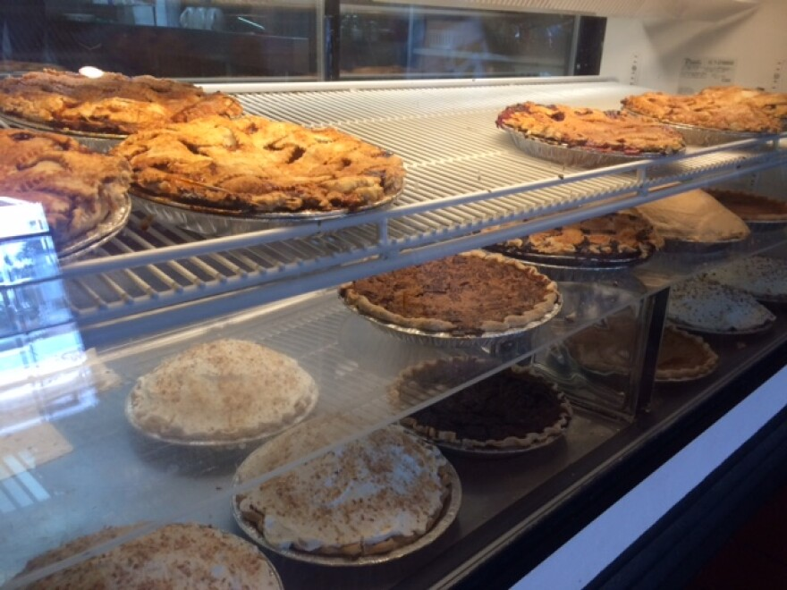 Pies on display at Reececliff