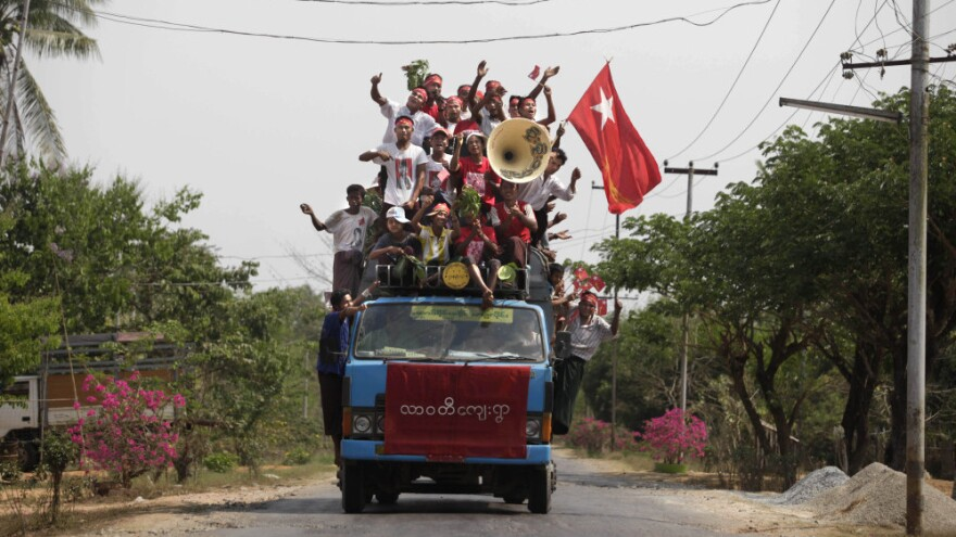 After decades of tight control by the military, Myanmar is opening up. Supporters of Myanmar's opposition leader Aung San Suu Kyi campaigned openly during the run-up to the April 1 election, in which her party won 43 of the 45 contested seats.
