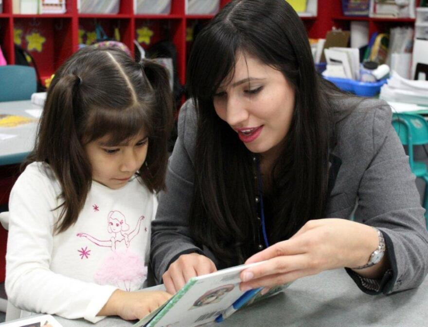 Hispanic Outreach Program assistant, Krystal Rosa, helps a steady flow of students who come into the office daily.