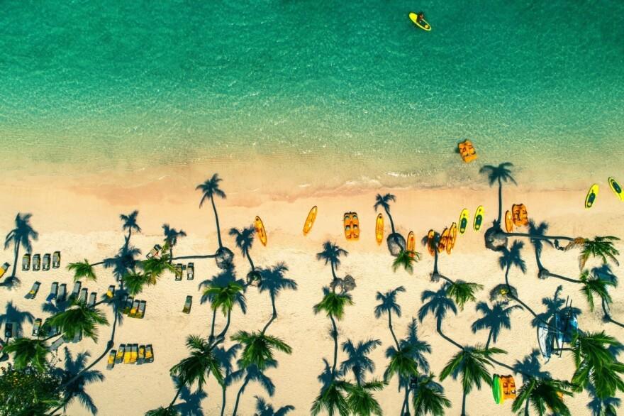 A beach in the Dominican Republic.