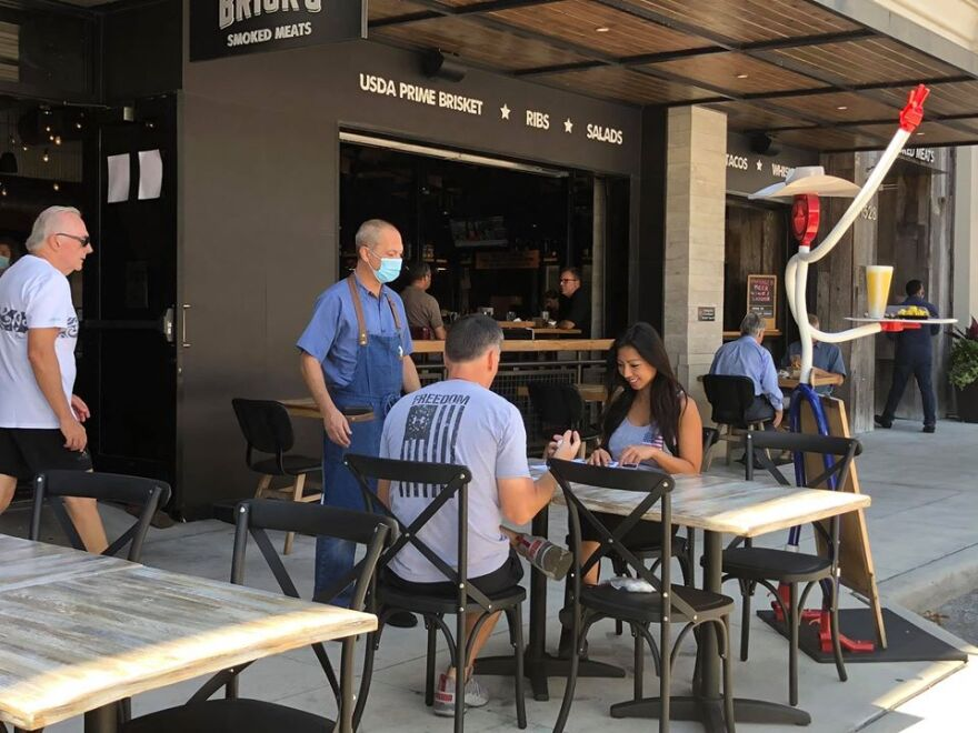 Bricks Smoked Meats in downtown Sarasota is among city restaurants offering expanded outdoor dining after prolonged closings.