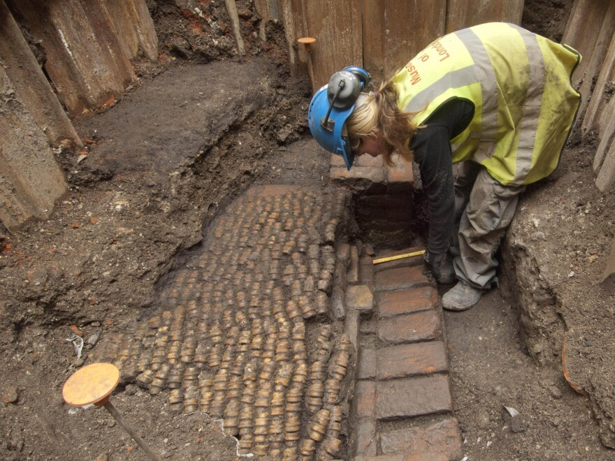 Archaeologists from the Museum of London Archaeology recently excavated the site of the 16th-century Curtain Theatre, where Shakespeare staged some of his plays.
