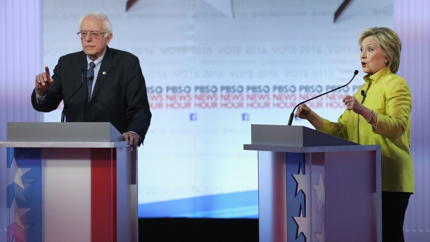Sen. Bernie Sanders has emphasized shadow banking less than Hillary Clinton, but he maintains that his overall platform is much tougher on Wall Street than hers.